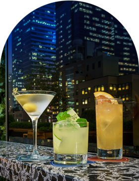 Castell rooftop bar and lounge in Midtown New York